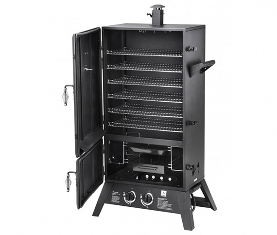 2 door gas smoker